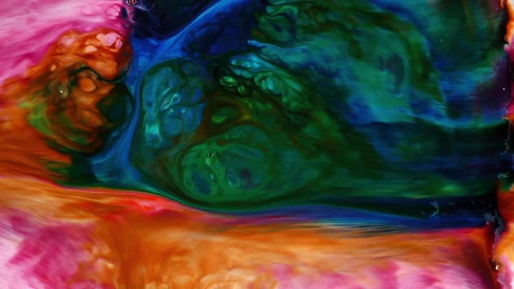 Abstract Colorful Ink Paint Explode 4: Stock Video