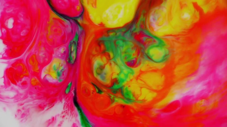 Abstract Colorful Ink Paint Explode 9: Stock Video