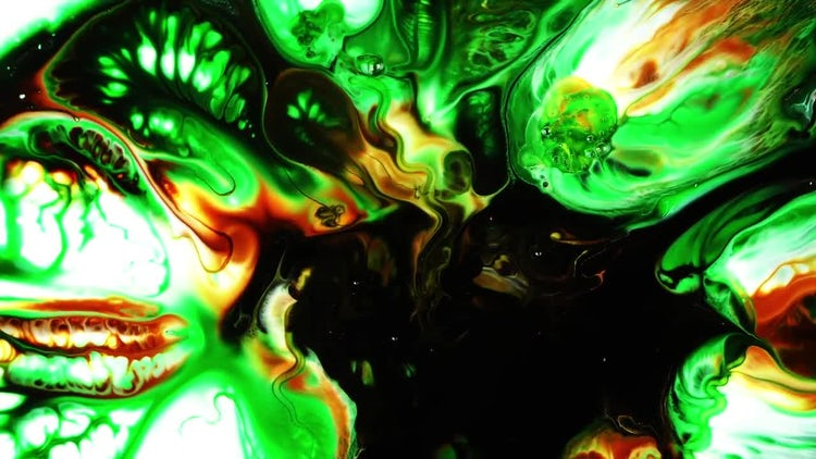 Abstract Colorful Ink Paint Explode 12: Stock Video