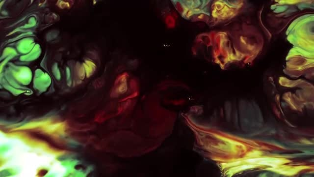Abstract Colorful Paint Explosion: Stock Video
