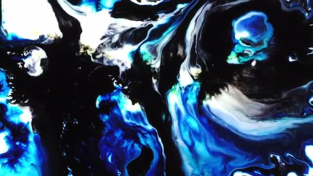 Abstract Colorful Ink Paint Explode 30: Stock Video