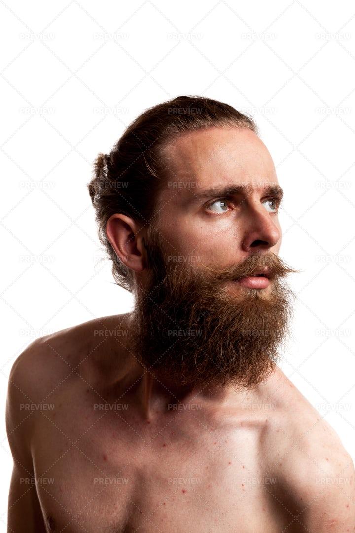 Hipster With Long Beard: Stock Photos
