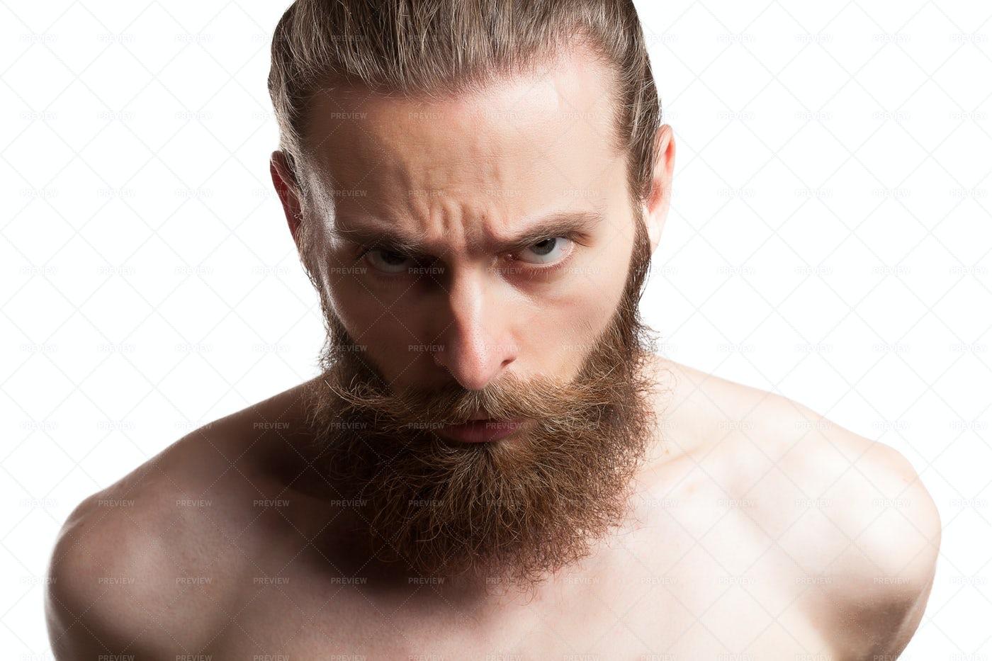 Portrait Of A Long Beard Man: Stock Photos