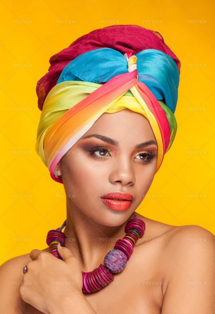 Rainbow Headwrap: Stock Photos