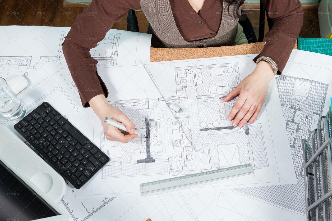 Architect Working: Stock Photos