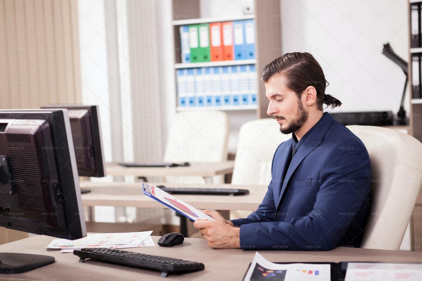 Executive Man In a Suit: Stock Photos