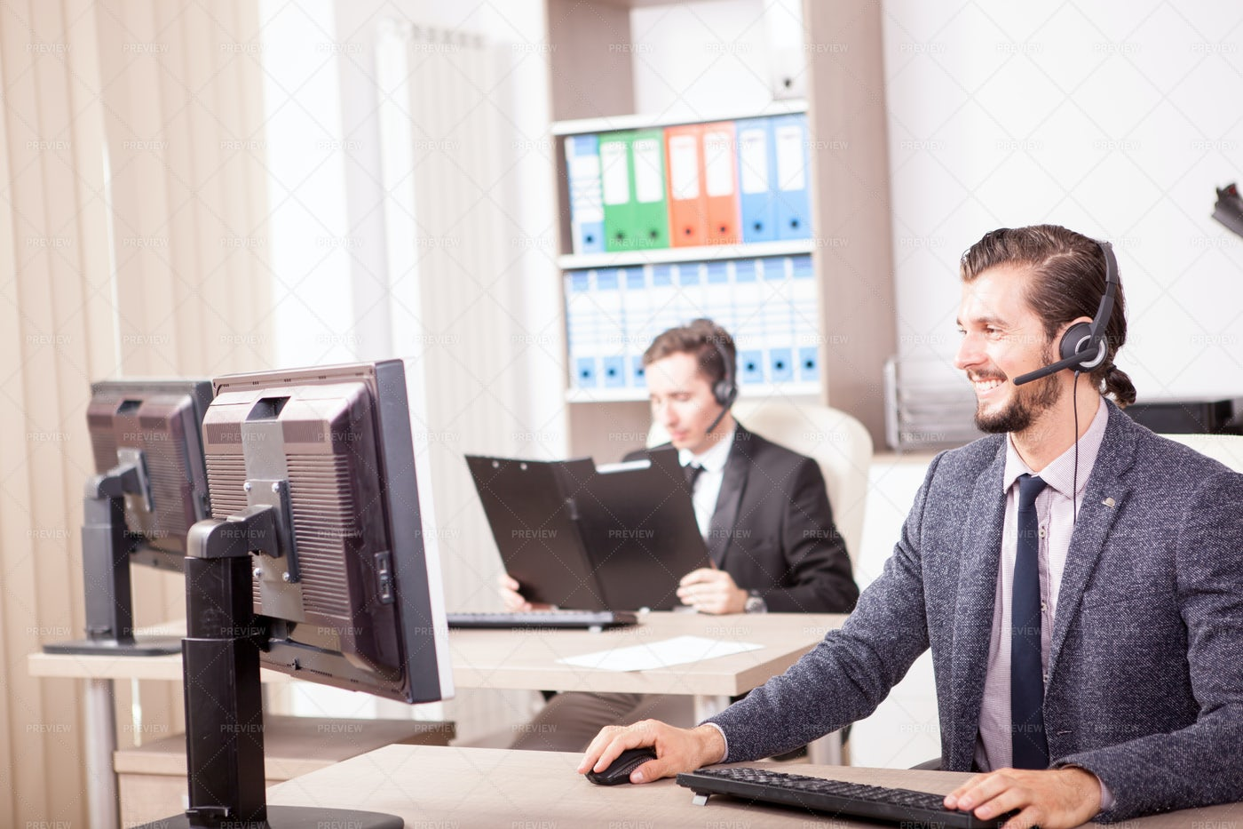 Customer Service Office: Stock Photos