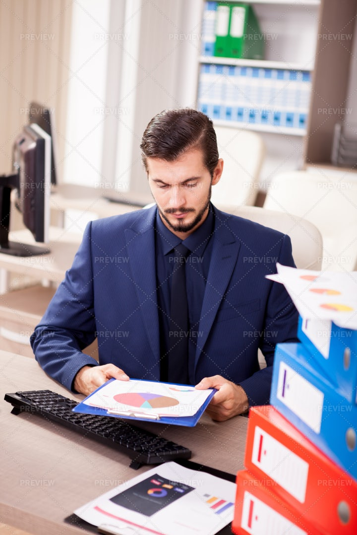 Busy Corporate Worker: Stock Photos