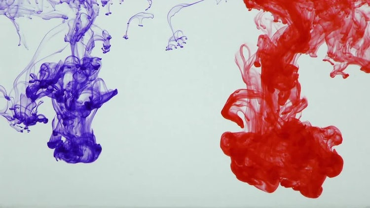 Colorful Ink Paint Splatter 28: Stock Video