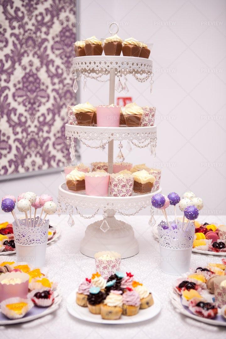 Candy Bar At Reception: Stock Photos
