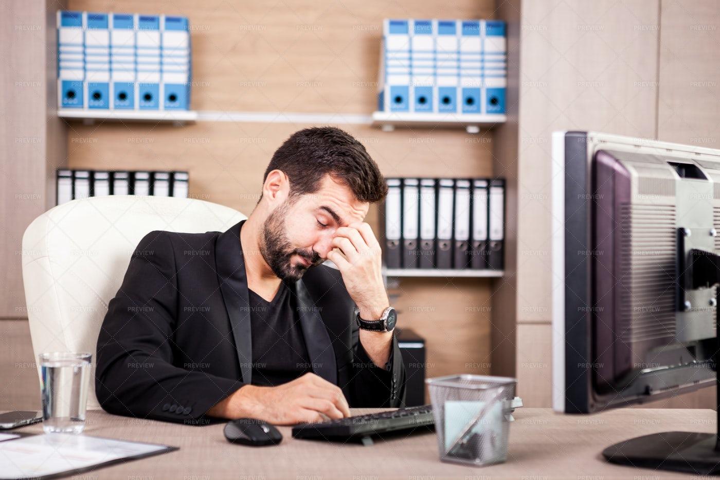 Tired Businessman: Stock Photos