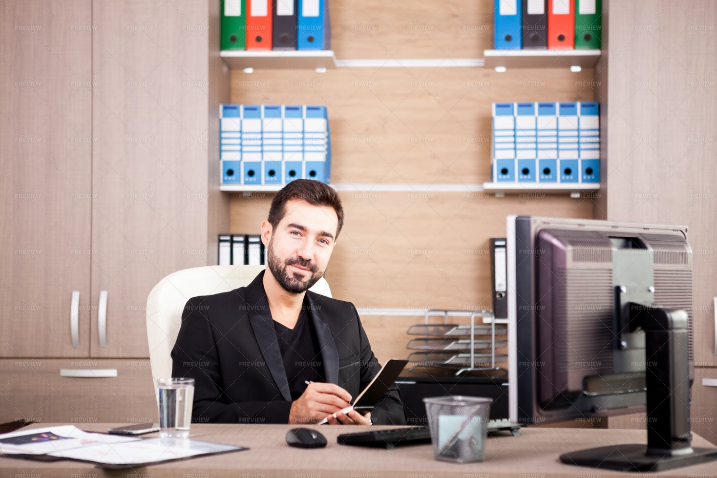 Businessman's Personal Office: Stock Photos