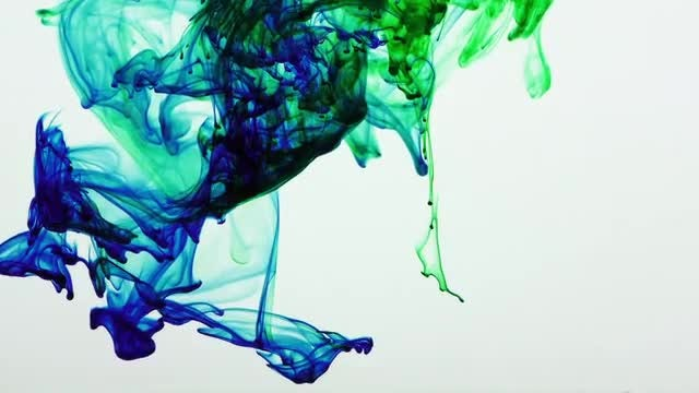 Blue And Green Ink: Stock Video