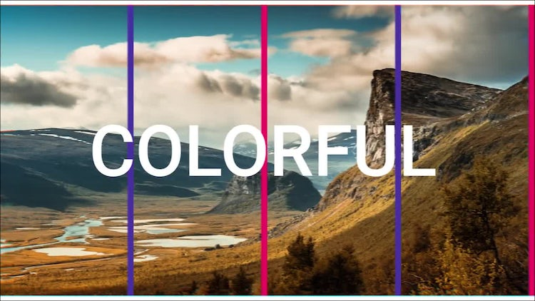 Colorful Fast Slideshow: After Effects Templates