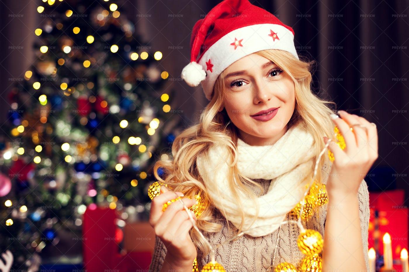 Christmas Portrait: Stock Photos