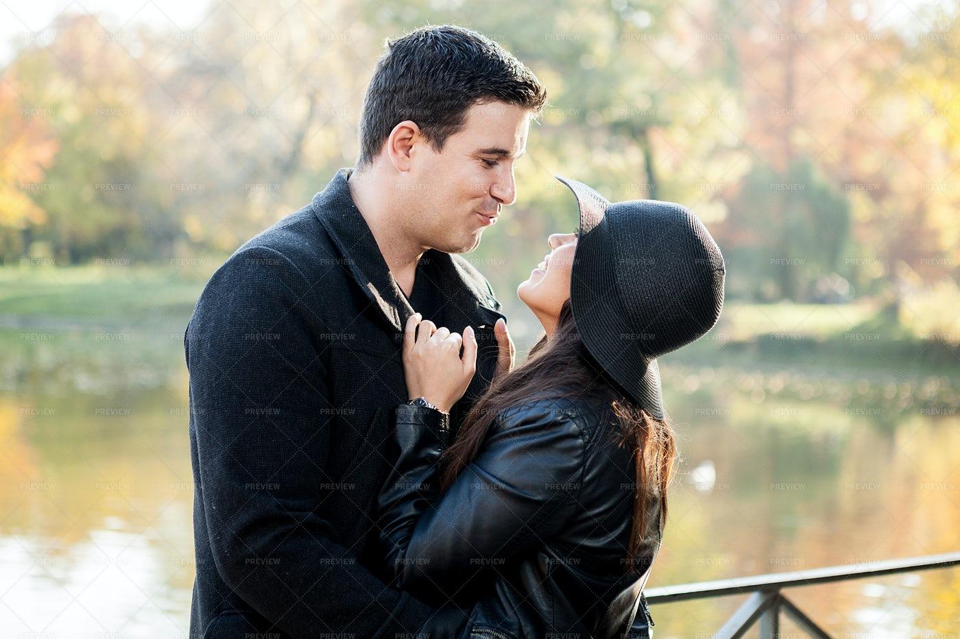 Couple In A Lake: Stock Photos