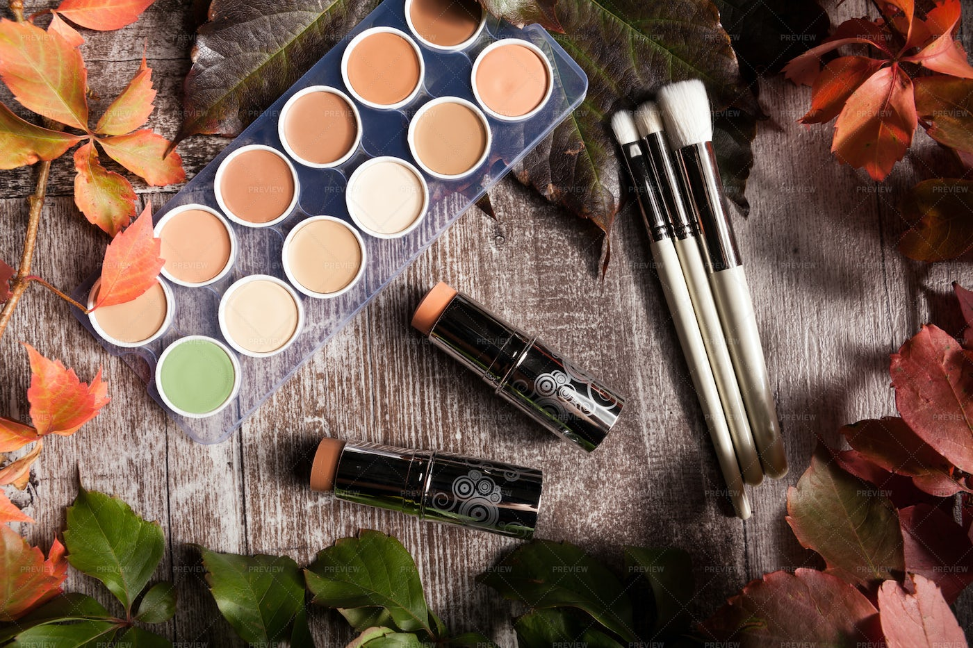 Different Makeup Products: Stock Photos