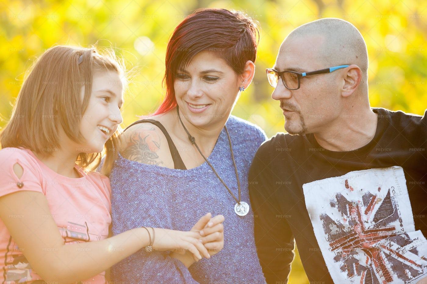 A Modern Family: Stock Photos