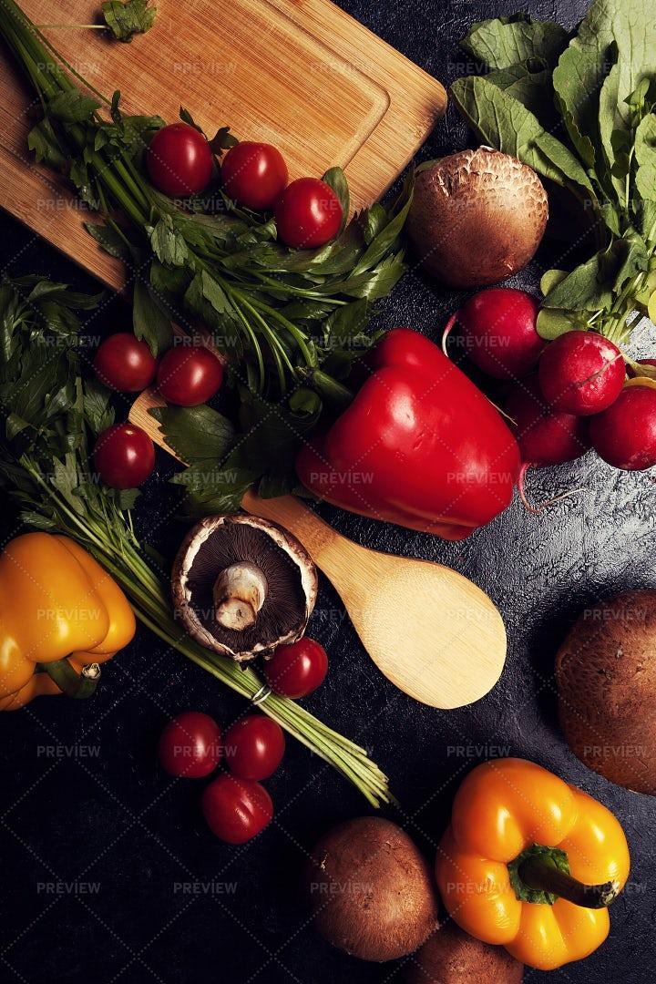Vegetables, Top View: Stock Photos