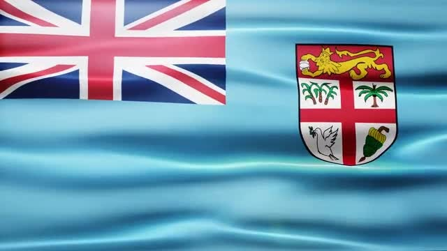Fiji Flag: Stock Motion Graphics