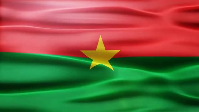 Burkina Faso Flag: Stock Motion Graphics