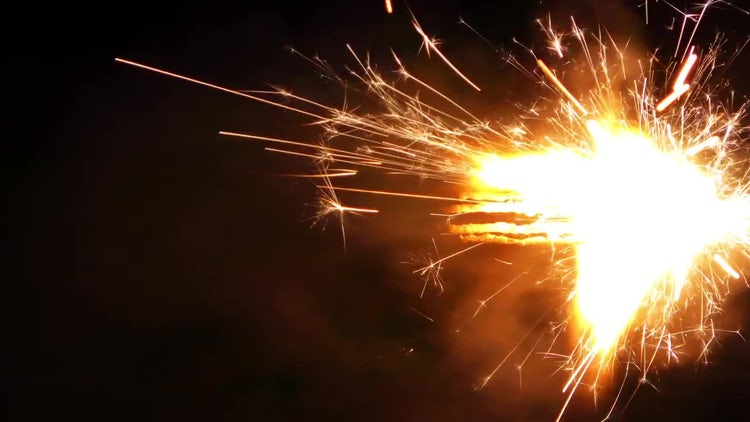 Firework Sparks: Stock Video