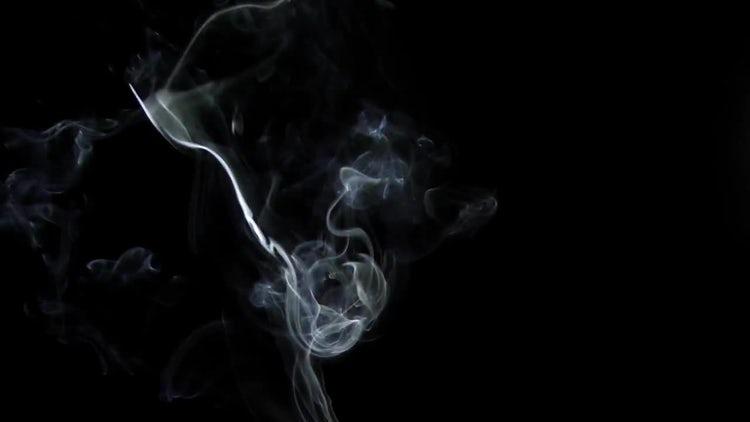 Smoke on Black Background 1: Stock Video