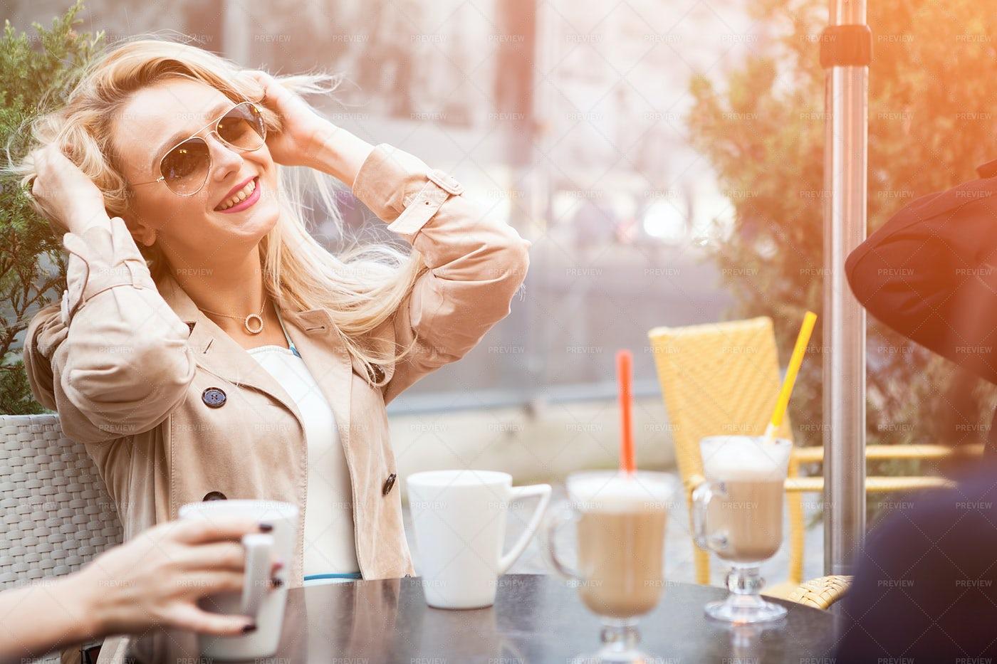 Woman Having Fun With Friends: Stock Photos