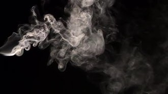Smoke on Black Background 9: Stock Video