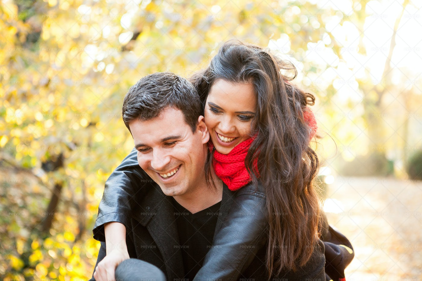 A Gorgeous Couple In The Park: Stock Photos
