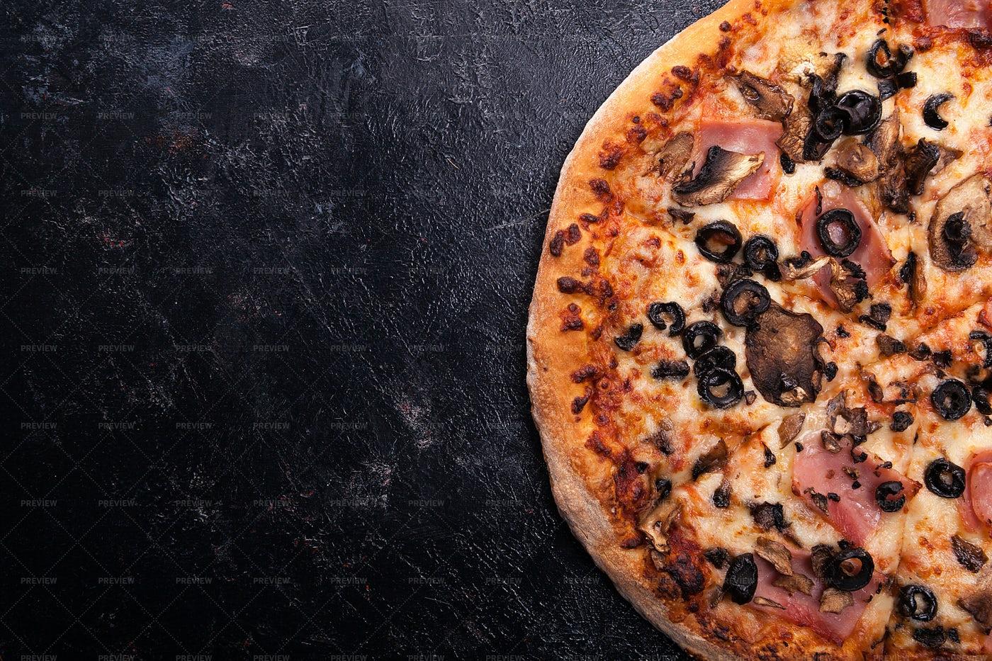 A Fresh Baked Pizza: Stock Photos