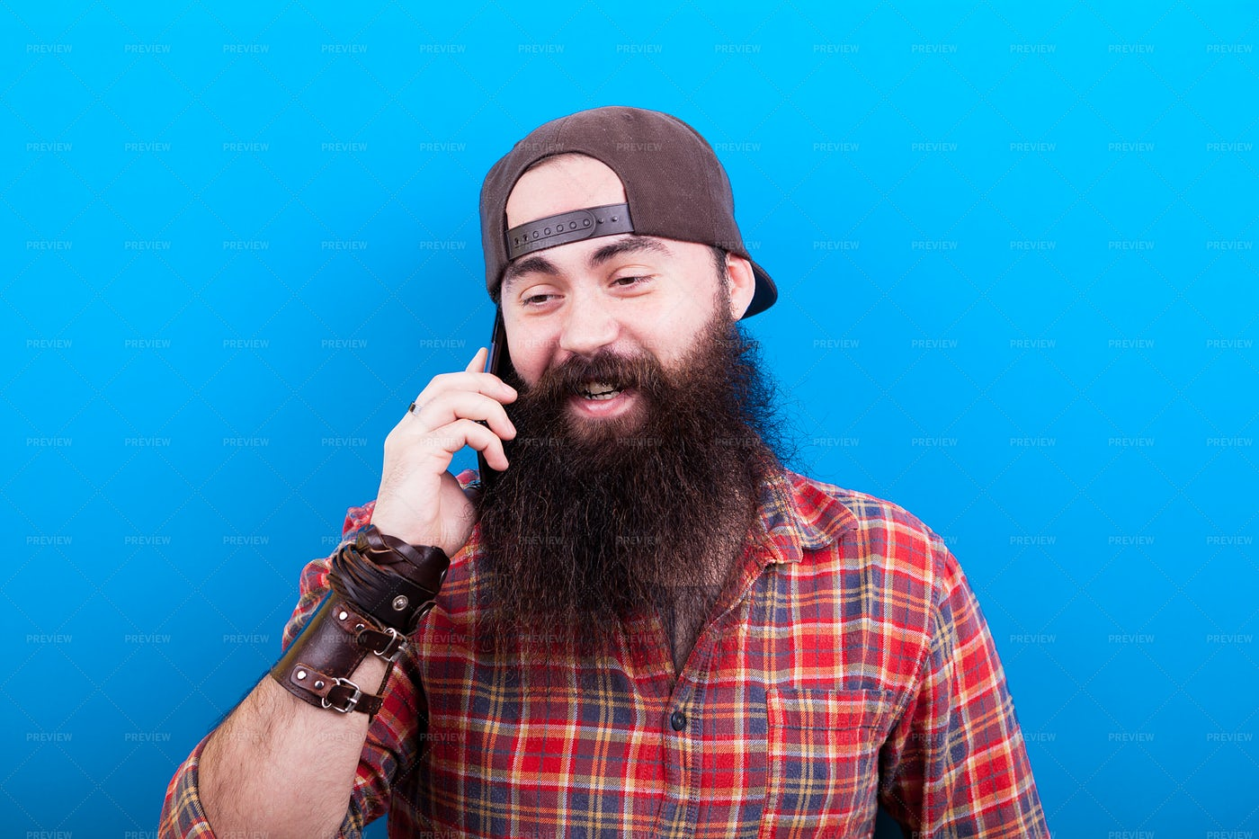 Hipster Talking On The Phone: Stock Photos
