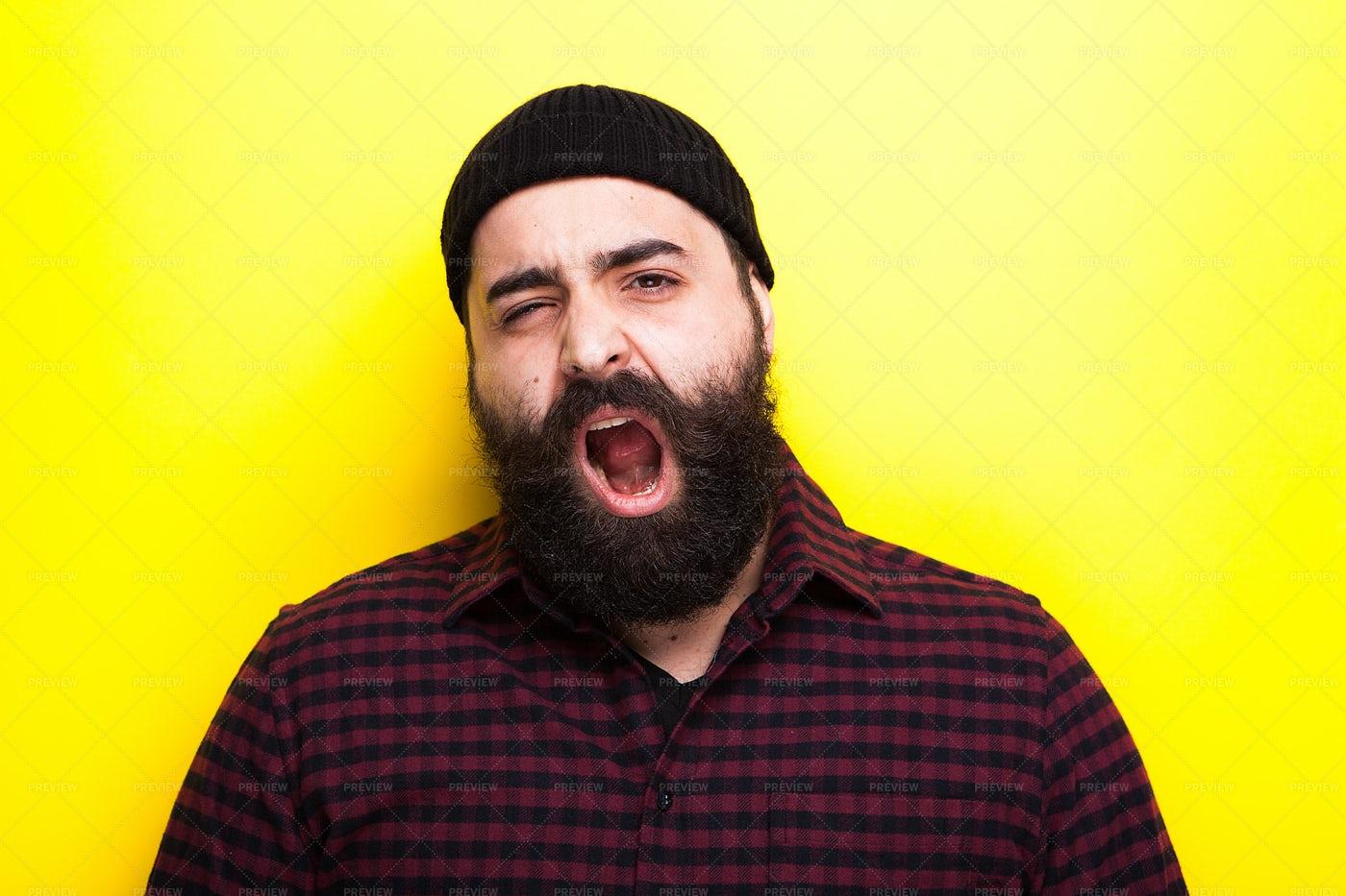 Yawning Hipster: Stock Photos