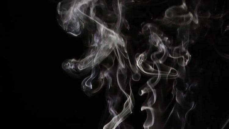 Smoke on Black Background 20: Stock Video
