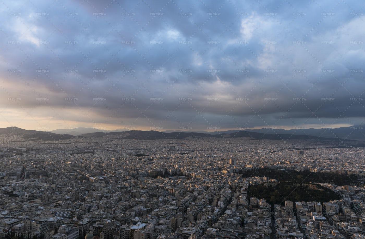 Clouds Over Athens: Stock Photos