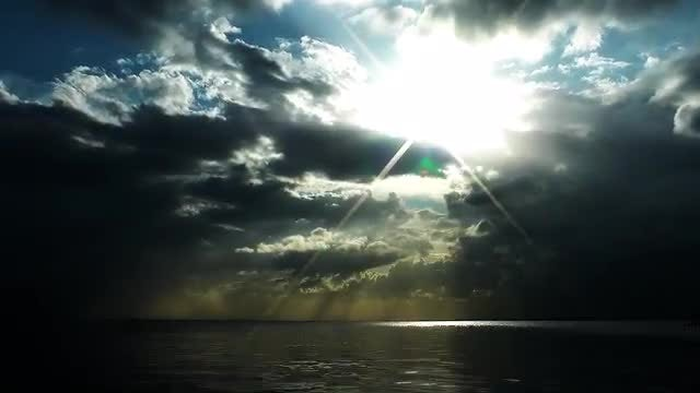 Clouds and Sea: Stock Video