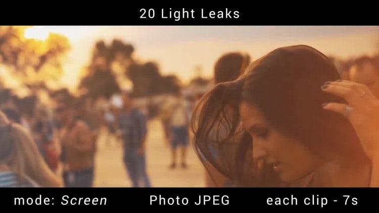 20 Light Leaks: Stock Motion Graphics