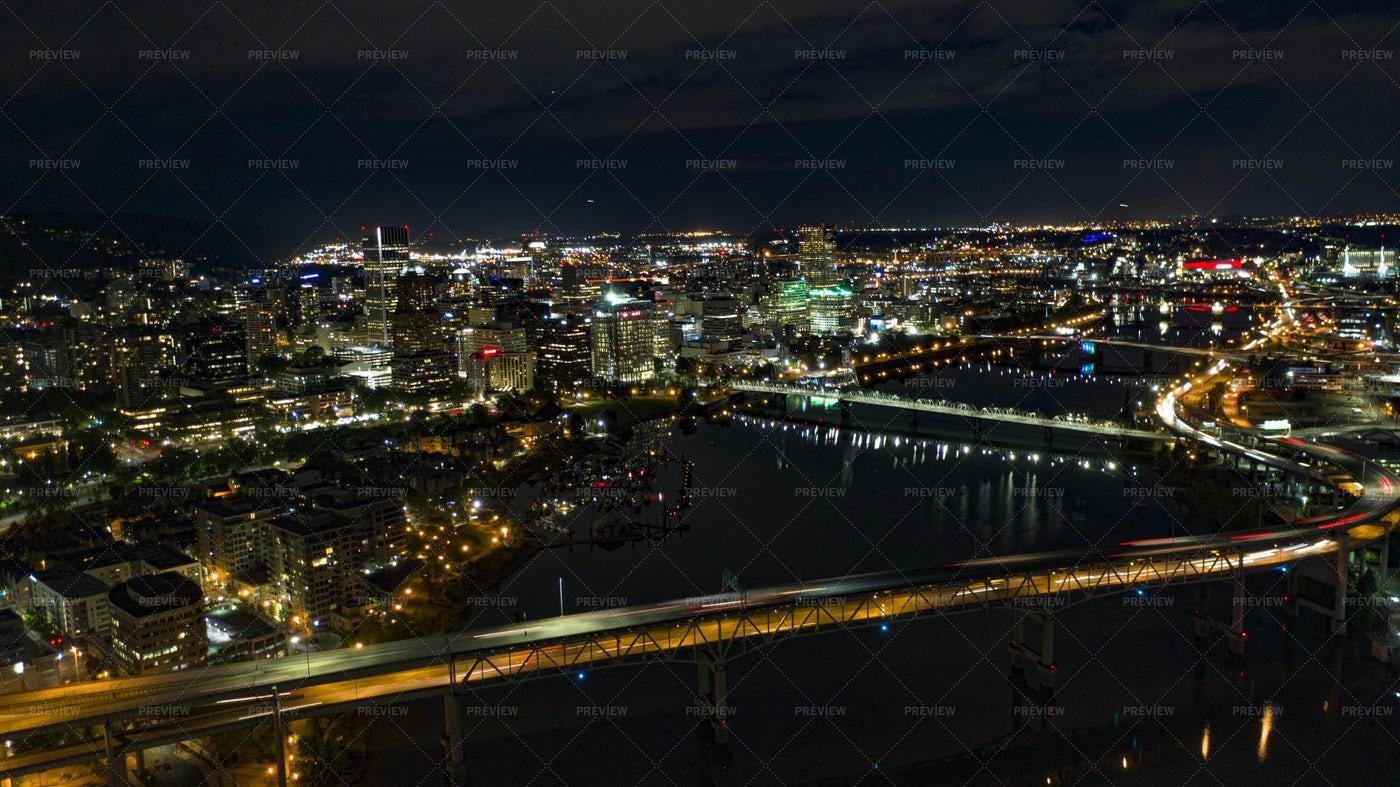 Portland at Night: Stock Photos