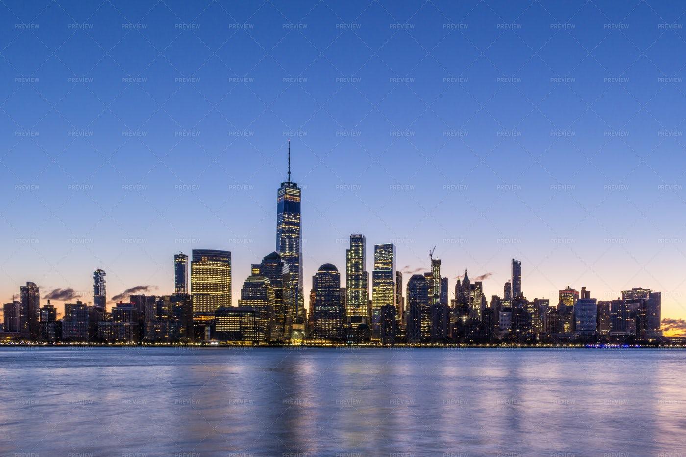 Manhattan Illuminated: Stock Photos
