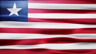 Liberia Flag: Motion Graphics