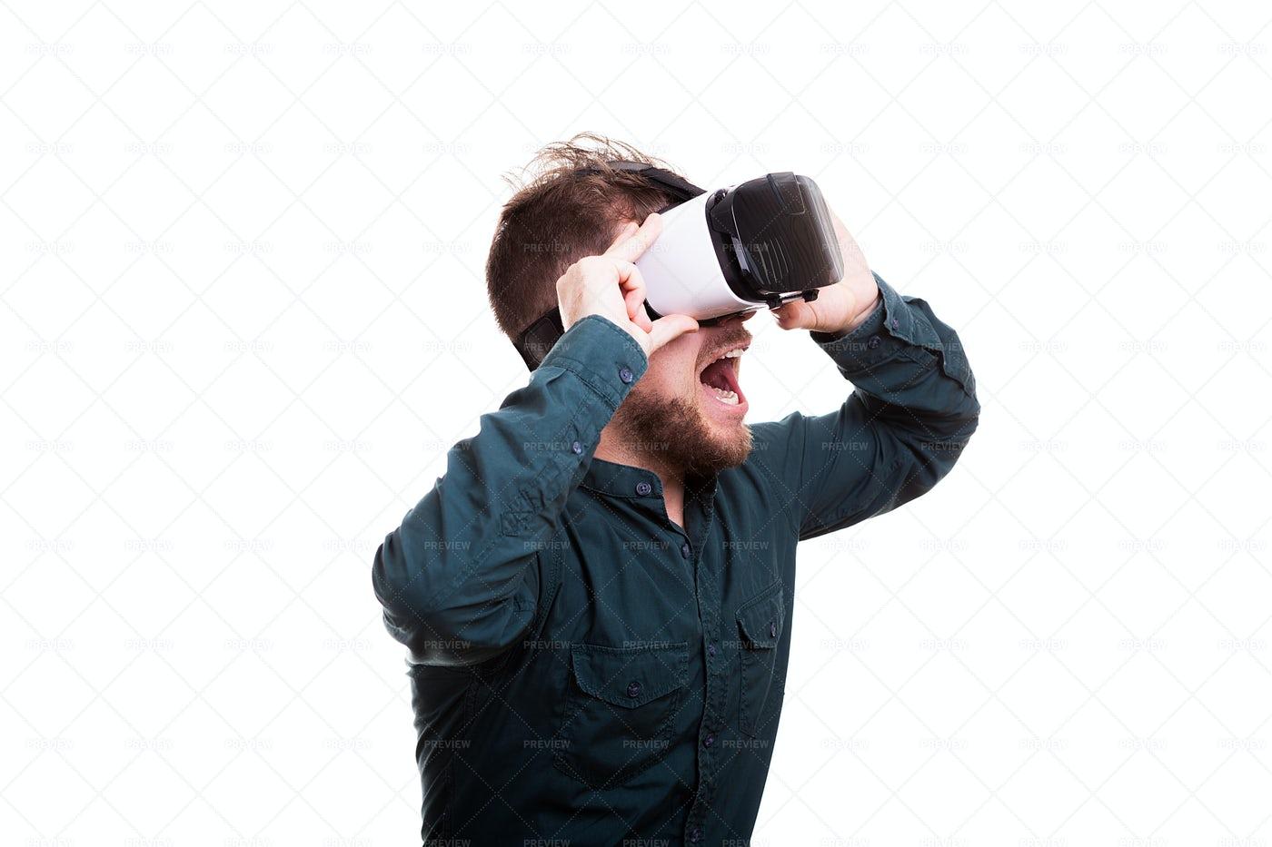 Experiencing Virtual Reality: Stock Photos