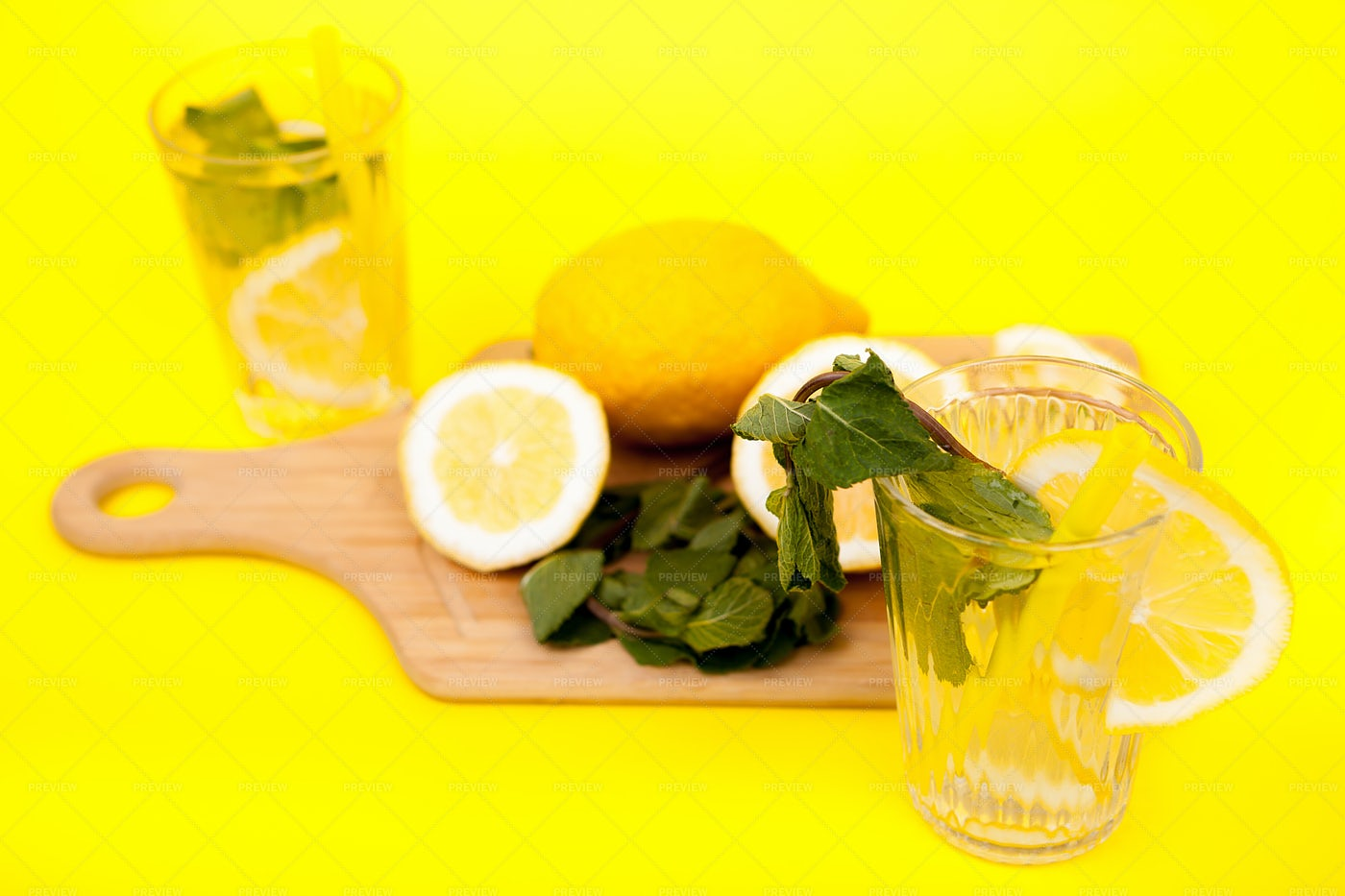 Lemons And Detox Water: Stock Photos