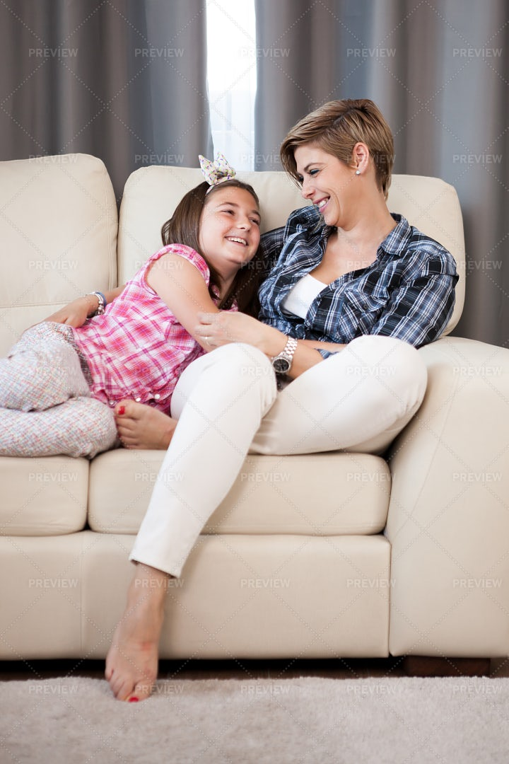 Mother Holding Her Daughter: Stock Photos