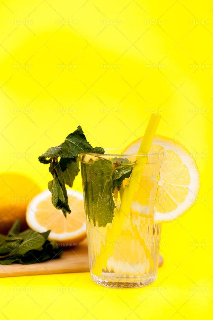 Organic Fruits For A Lemonade: Stock Photos