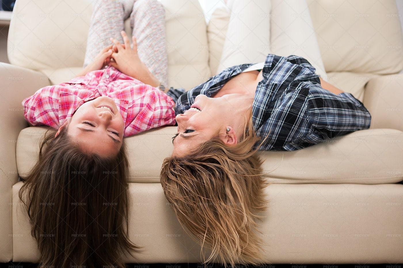 Mother And Daughter Having Fun: Stock Photos