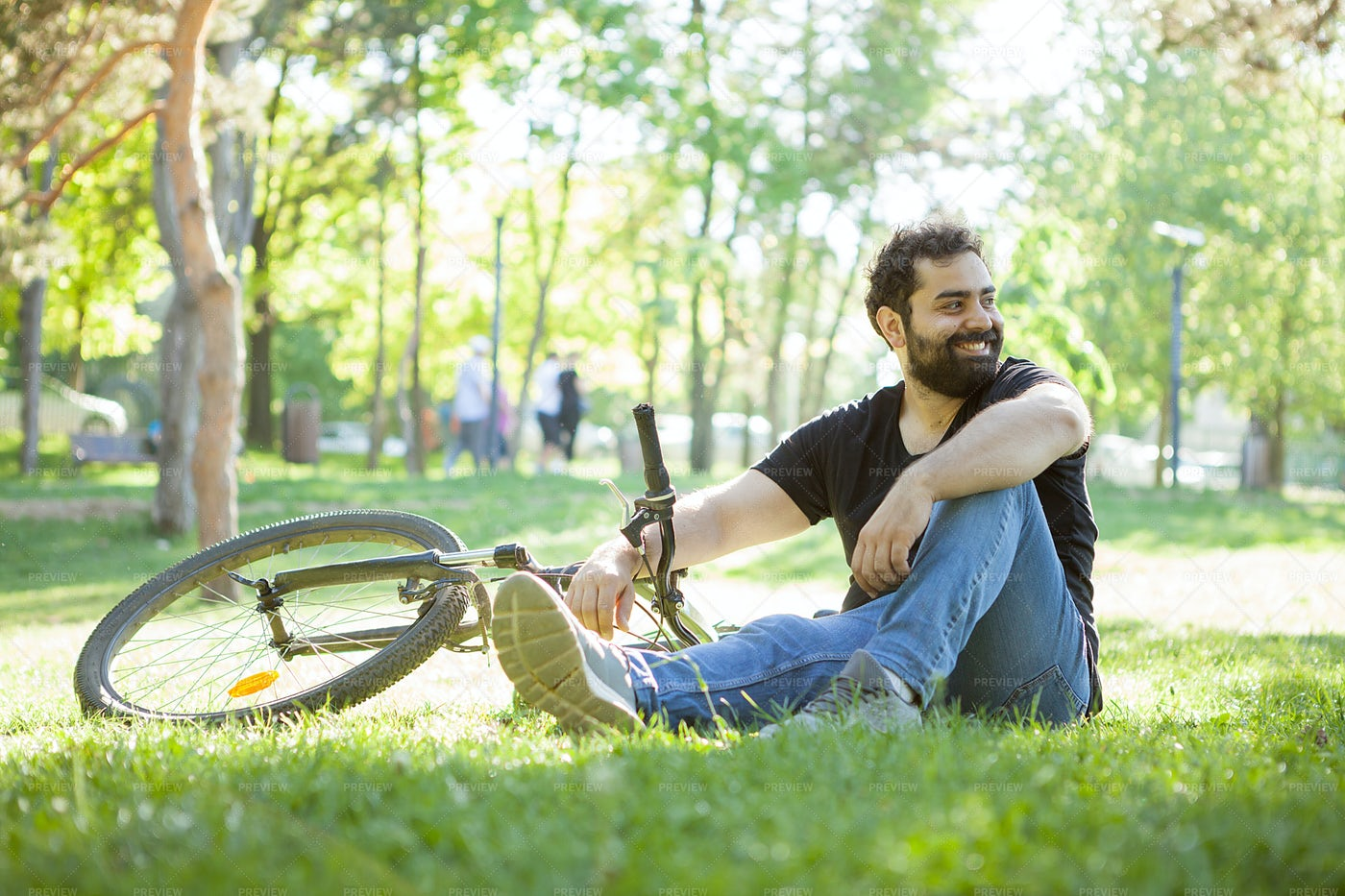 Bicycle At The Park: Stock Photos