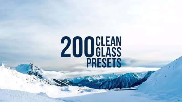Clean Glass Presets: Premiere Pro Presets