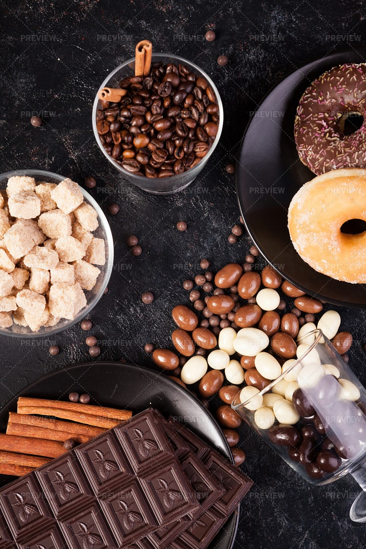 Sweets Spilling Over: Stock Photos