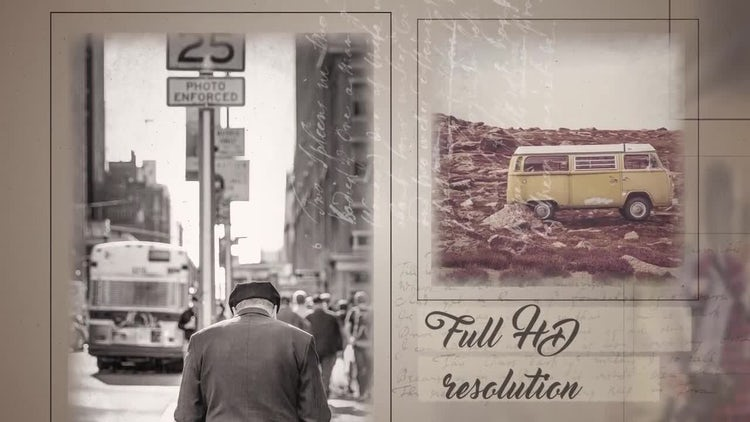 Retro Slideshow: After Effects Templates
