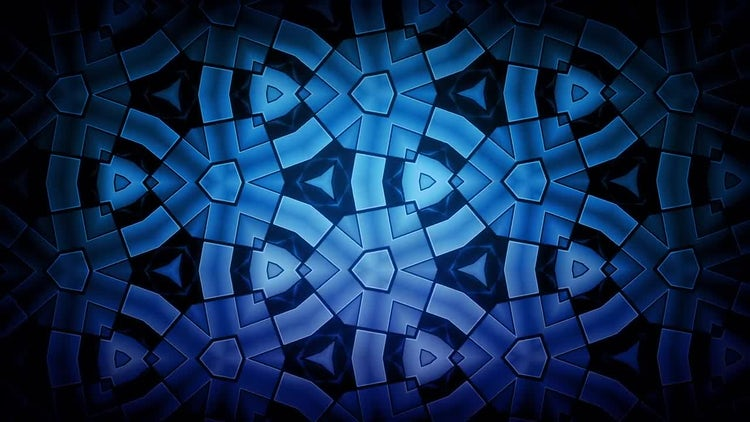 Kaleidoscope Blue Pattern: Motion Graphics